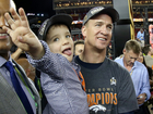 Broncos players share spotlight with their kids