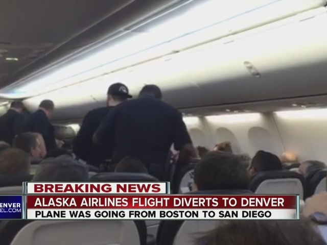 Alaska Airlines flight diverted to Denver after disturbance