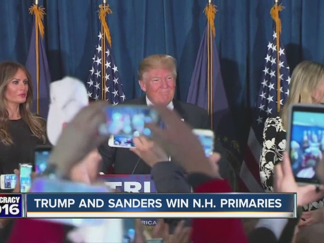 Trump, Sanders win New Hampshire primary