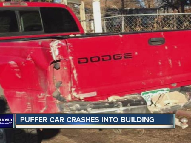 Puffer crashes into building