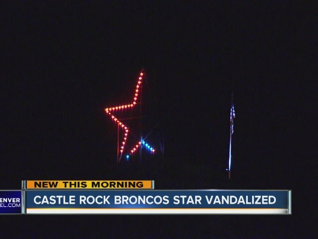 Castle Rock star vandalized