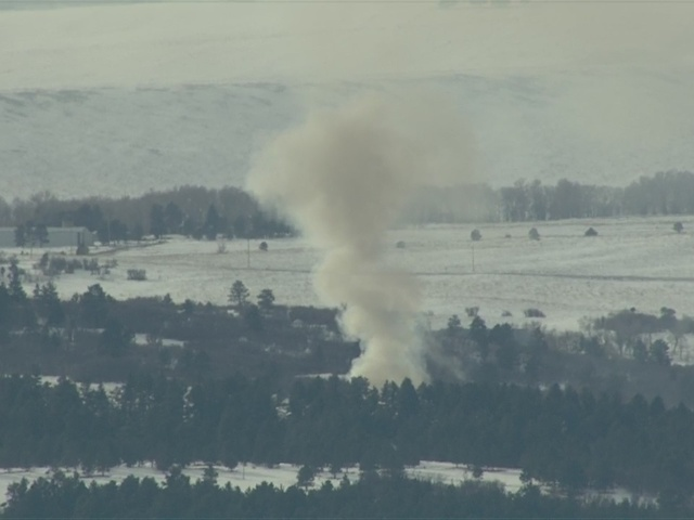 Heavy smoke over Larkspur because of large house fire