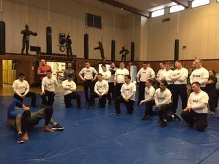 Police recruits learning to de-escalate tension