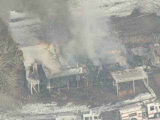 Dogs rescued from house fire in Larkspur