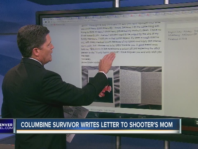 Columbine survivor's open letter to gunman's mom
