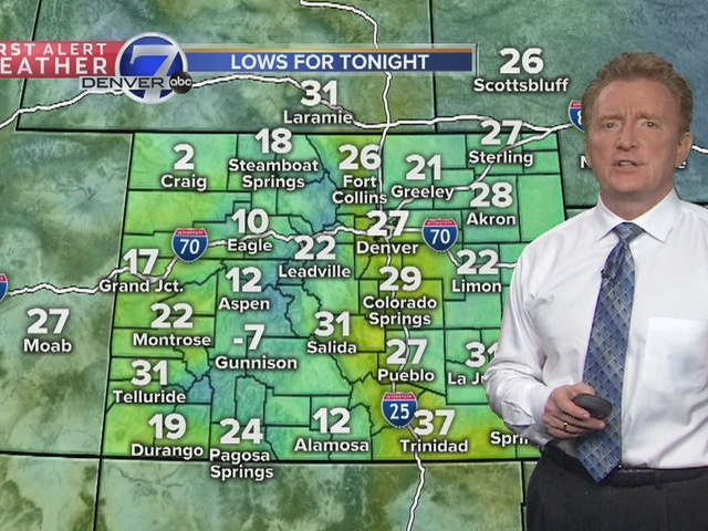 Cooler on Friday, but still above normal