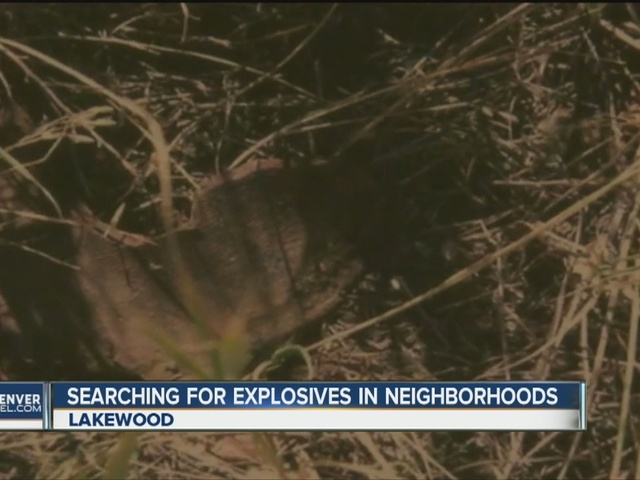 Searching for explosives in neighborhoods
