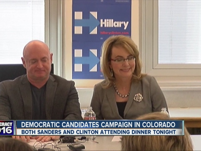 Democratic presidential candidates campaign in Colorado