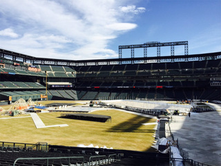 It's a face-off between sun, ice at Coors Field