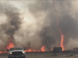 WATCH: Firenado forms in Mo. wildfire