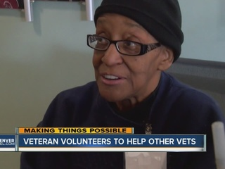 Vet helping others at service center