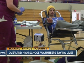 Overland honored for 30 years of blood drives