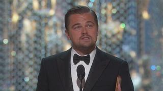 WATCH: Leo's acceptance speech for first Oscar
