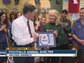 Volunteer helps shelter animals feel at home