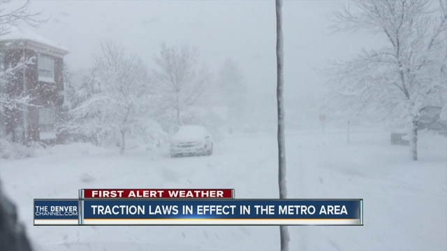 Denver7 Reporter Jennifer Kovaleski Tells Us That For The First Time The Denver Metro Area Implemented Traction Laws
