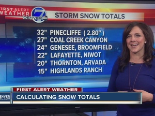 Denver Blizzard: Snow totals for March 23, 2016