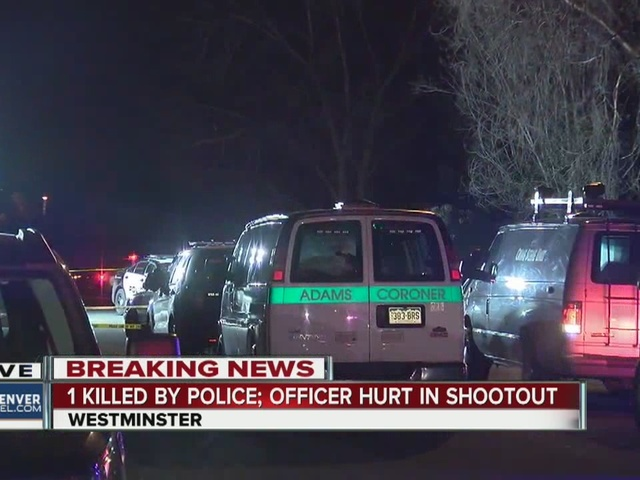 1 dead, officer injured after shootout in Westminster