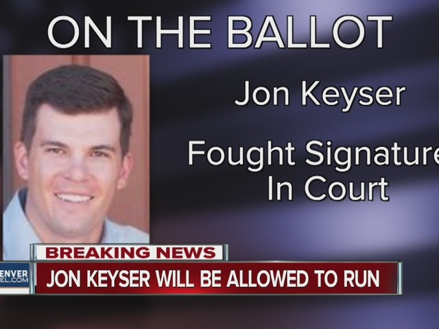 Jon Keyser will be on the primary ballot for U.S. Senate in Colorado