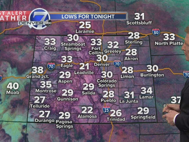 Slow moving storm will linger over Colorado