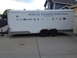 Trailer stolen containing Boy Scouts items