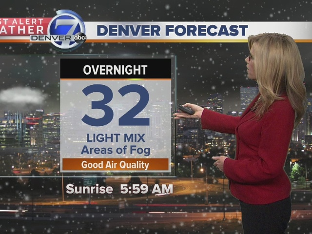 Snow and rain continues for Sunday