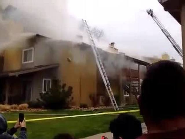 Apartment building on fire in Federal Heights