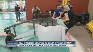 MSU students build, test river cleaning devices