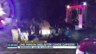 1 dead after canoe capsizes in lake