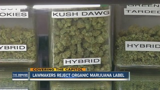 Colorado decides against organic labels for pot