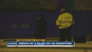 Pedestrian killed on I-25 near stadium