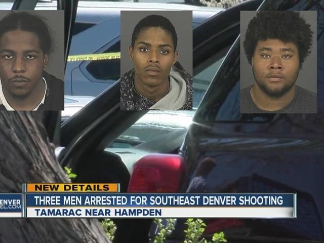 3 men arrested for southeast Denver shooting