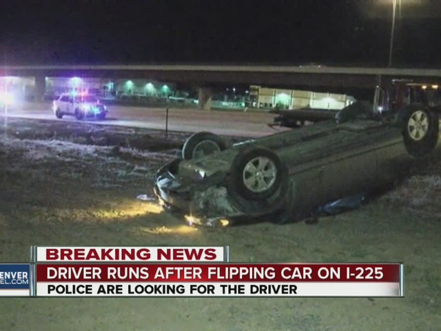 Driver flipped car, then ran after crash