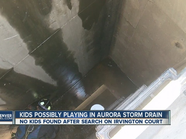 Kids possibly playing in Aurora storm drains