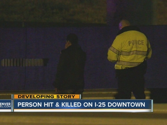 Pedestrian hit and killed on SB I-25