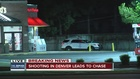 1 in custody after shooting, police chase