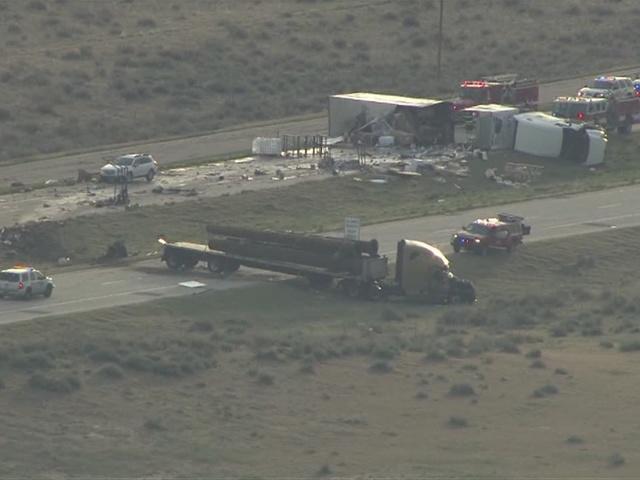 Crash cuts semi in half on I-76 near Wiggins