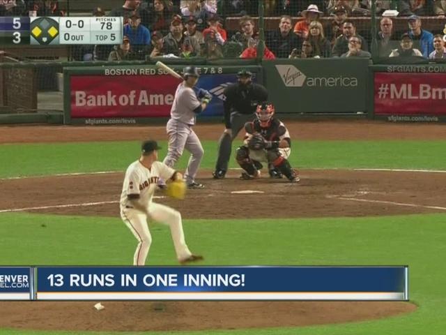 Rockies score 13 runs in 1 inning