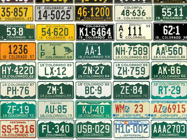 Book explores license plate history in colorado denver7 for Where to buy fishing license colorado