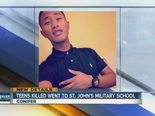 Military school teens ID'd as crash victims