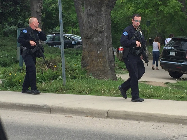 Suspect shot by police after firing shots into Boulder Creek; 2nd person…