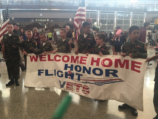 World War II vets return from honor flight