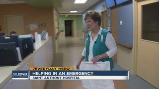 Volunteer who rescued baby still helps at ER