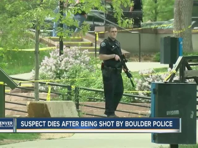 Gunman shot by Boulder police dies