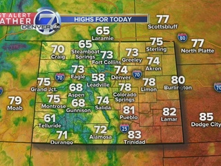 70s and storms in store this afternoon