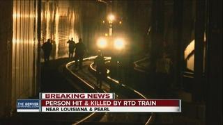 Pedestrian killed on light rail tracks
