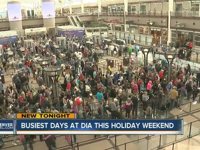 Busiest days at DIA this Memorial Day weekend