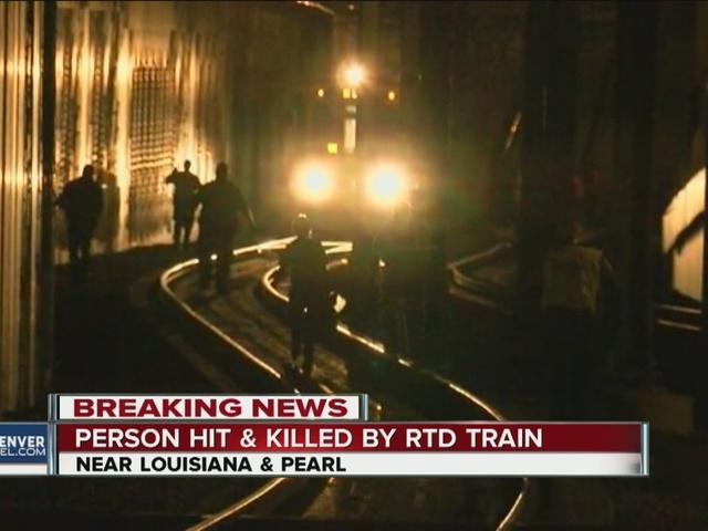 Pedestrian hit & killed by train