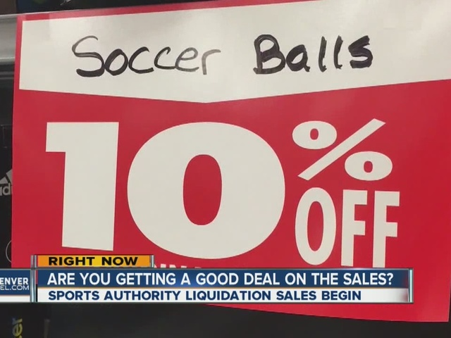 Are you getting a good deal on the Sports Authority sales?