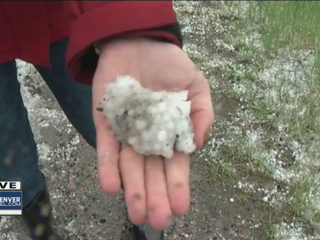 Hail hits northest Denver, Aurora and eastern Colorado