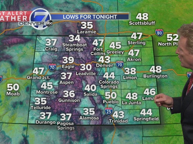 Temperatures cooler for tomorrow, with rain